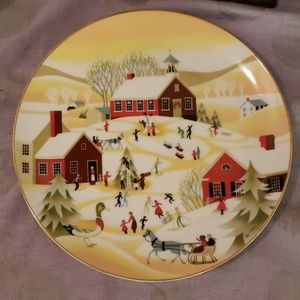 The Village School Collectible Plate